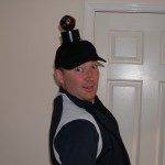 Safety and the famouse disco light hat...what more can I say